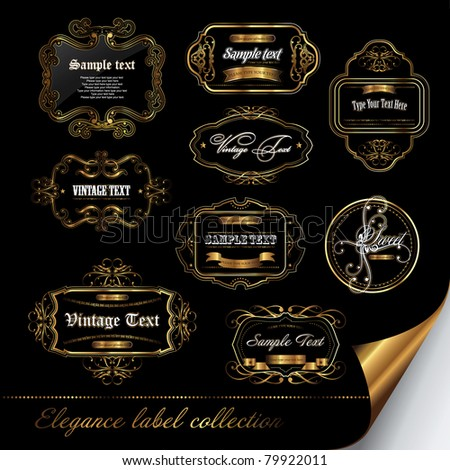 set of elegance label collection - stock vector