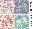 Set of  elegant baroque seamless vector patterns - stock photo