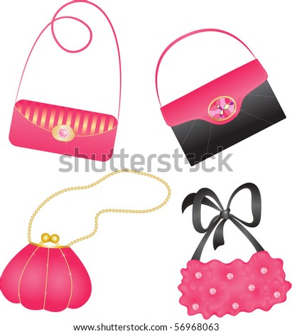 Set of elegant handbags. - stock vector