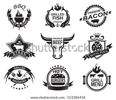 Set of elements for a restaurant designs - stock vector