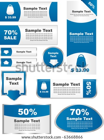 set of elements for sale -vector - stock vector