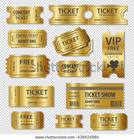 Set of eleven vector tickets and coupons templates - stock vector