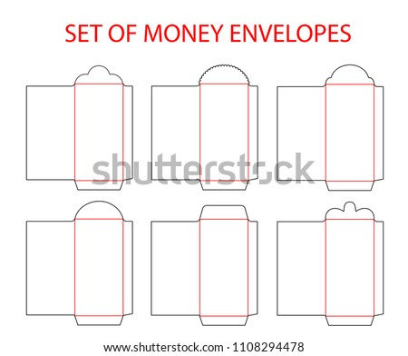 Set Empty Envelopes Die Cut Chinese Stock Photo (Photo, Vector ...