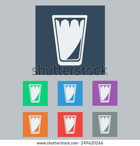 Set of Empty Glass of Water or Other Drinks. Vector illustration - stock vector