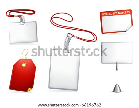 Set of empty tags, eps10 - stock vector