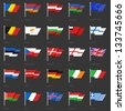 Set of european flags. Very stylish. Vector illustration scale to any size - stock vector