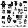 Set of family icons for design. - stock vector