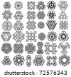 Set of fantasy style design elements - stock vector