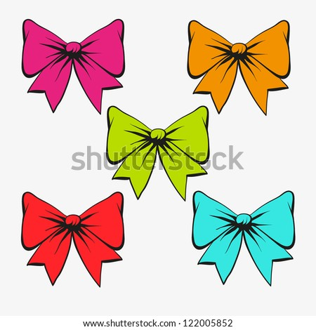 Set of festive bows
