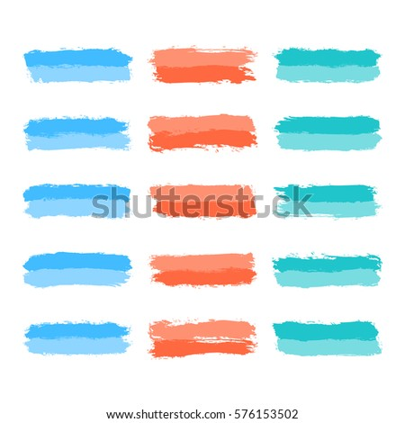 25 circle form brush stroke drawing stock vector 137977598 for Set painting techniques