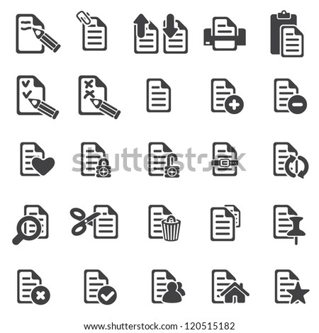 set of files icons - stock vector