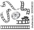 set of film and roll vector - stock vector