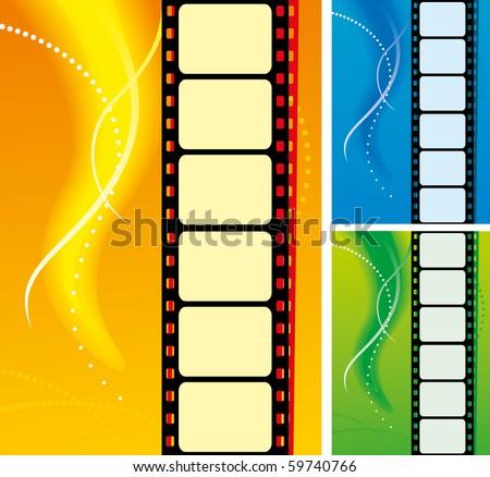 set of film strips - stock vector