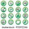 Set of finance and bank icons. - stock vector