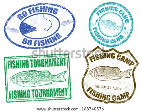 Stock images similar to id 123262369 fish vector symbol for Fish symboled stamp