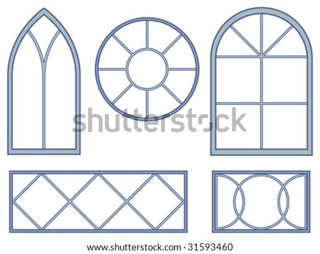 Gothic window stock images royalty free images vectors for Window design vector