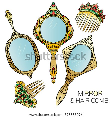 Vintage Hand Mirror Stock Images, Royalty-Free Images ... Vintage Hand Mirror Clipart
