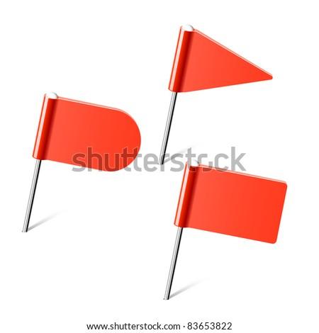Set of flag pins. Vector. - stock vector