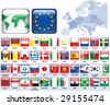 Set of flags. Glossy buttons. - stock photo