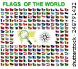Set of Flags of world sovereign states. Vector illustration. - stock vector