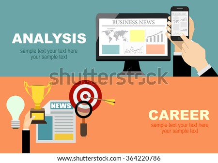 Set of flat design illustration concepts for business, finance, consulting, management, human resources, career, team work, staff training. Concepts for web banner and printed materials. - stock vector