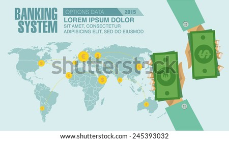 Set of flat design vector illustration concepts finance infographics. Finance management in the world. - stock vector