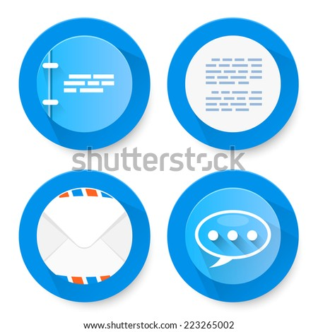 Set of flat document icons. Vector illustration
