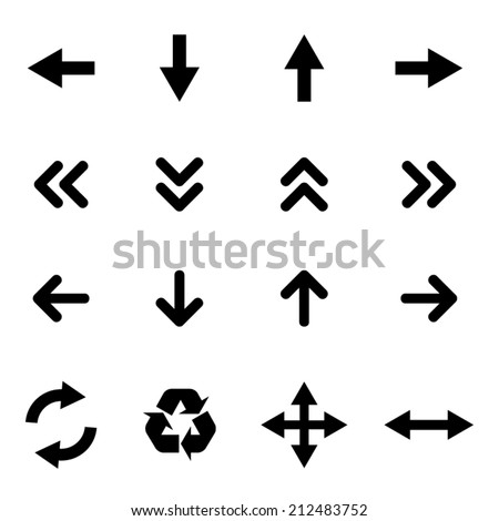 Set of flat icons - arrows - stock vector