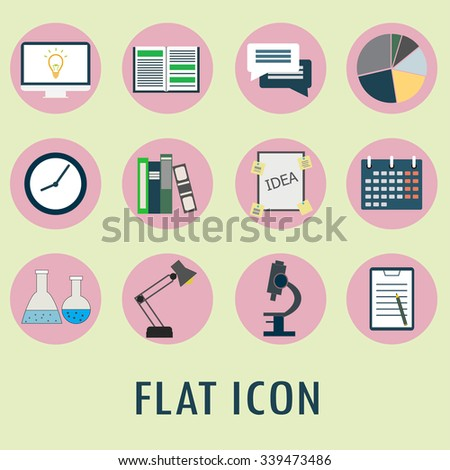 Set of flat icons. vector illustration.