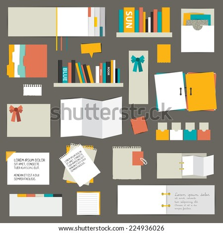 Set of flat reminder stickers. Infographic set. - stock vector