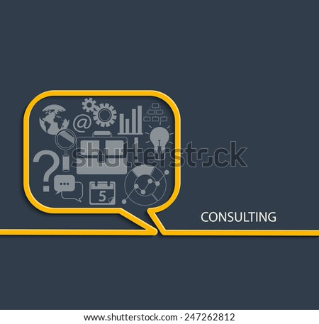 Set of Flat Style Designs. Business Concepts. Consulting Concepts Design, vector.  - stock vector