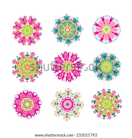 Set of floral arabesque for your design