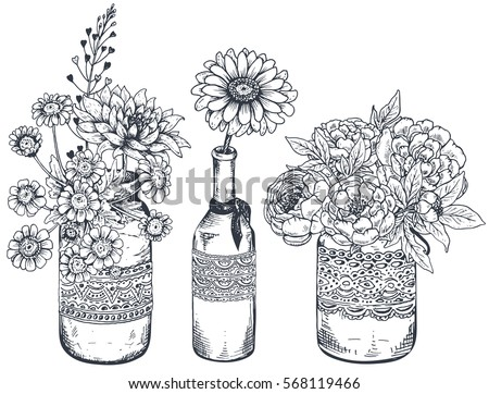 Flower Sketch Stock Images Royalty Free Images Amp Vectors