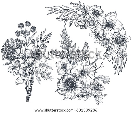 Monochrome Flower Stock Images Royalty Free Images