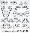 Set of floral elements for decor, Illustration - stock vector
