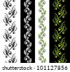 Set of floral seamless ornamental stripes or patterns - stock vector