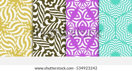 set of floral seamless pattern background. Luxury texture for wallpaper, invitation. vector illustration. pink, beige, blue color.
