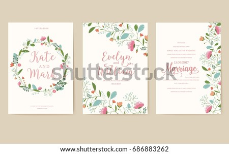 Set flower wedding ornament concept art em vetor stock 686883262 set of flower wedding ornament concept art traditional magazine book poster stopboris Image collections