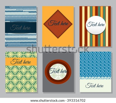 Set of flyer. Brochure design templates. - stock vector