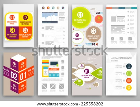 Business Infographics Elements Corporate Brochures Flat Stock ...