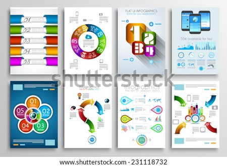 Set Flyer Design Web Templates Brochure Stock Vector 232198210