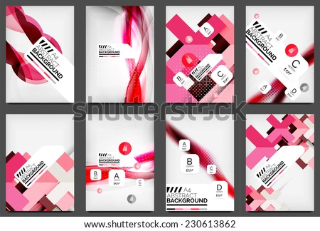 Set of Flyer Templates, Business Web Layouts, modern business web online layout - stock vector
