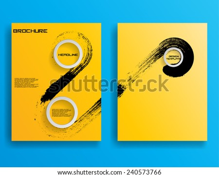 Set of Flyer Templates. Collection of Brochure Design . Abstract Modern Background .  - stock vector