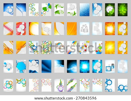 Set of flyers layout template business design - stock vector