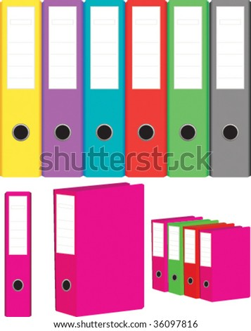 set of folders for office documents