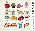 set of food icon - stock vector