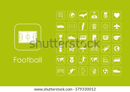 Set of football simple icons - stock vector