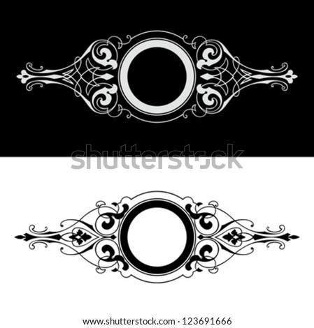 Set Of Four One Color Round Frames. - stock vector