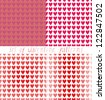 Set of four seamless patterns for St. Valentine's Day - stock vector
