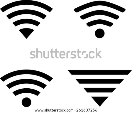 Set of four wireless technology symbols. eps10 - stock vector